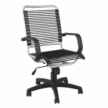 Bradley Bungie Office Chair in Black and Aluminum