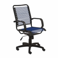 Bradley Bungie Office Chair in Blue and Graphite Black