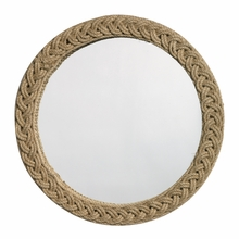 Braided Large Round Jute Mirror