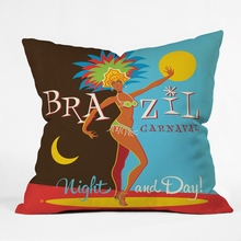 Brazil Carnaval Throw Pillow