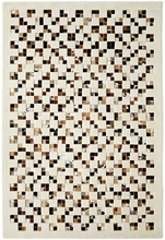 Brazilian Leather Checkerboard Rug