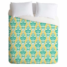 Breezy Damask Lightweight Duvet Cover