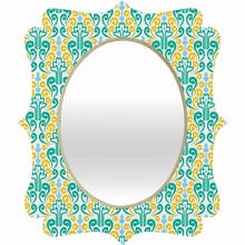 Breezy Damask Quatrefoil Mirror