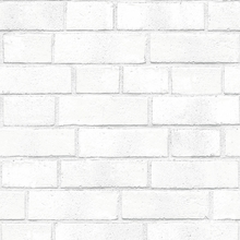 Brick Textured White Removable Wallpaper