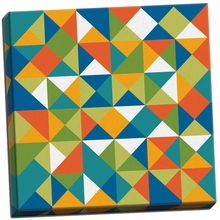 Bright Geometrics I Canvas Wall Art