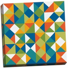 Bright Geometrics II Canvas Wall Art