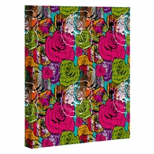 Bright Roses Wrapped Canvas Art
