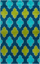 Bright Trellis Rug in Blue