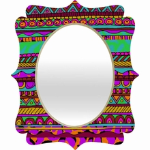 Bright Tribal Quatrefoil Mirror