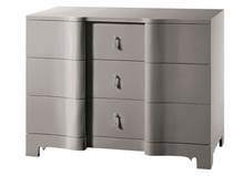 Brigitte Large 3-Drawer Dresser - Gray