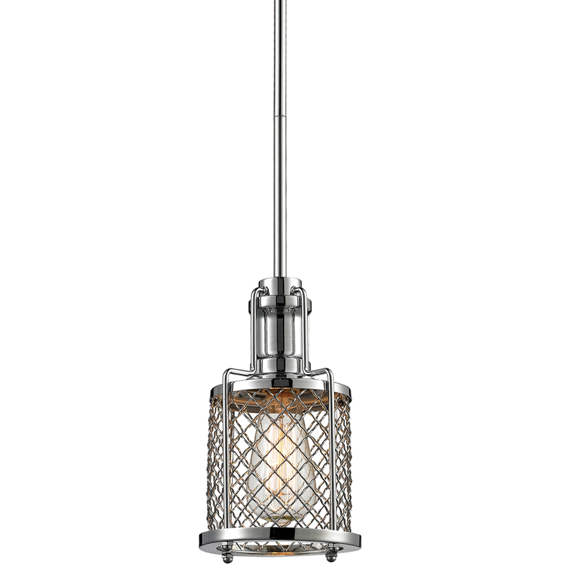 District17 Brisbane Mini Pendant In Polished Chrome