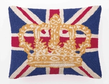 British Flag and Crown Hook Pillow