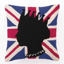 British Flag and Queen Hook Pillow