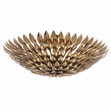 Broche Antique Gold Semi-Flush Mount