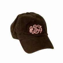Brown Script Monogram Baseball Cap