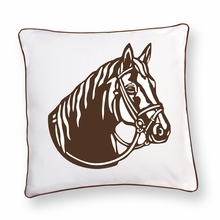Brown Stallion Reversible Throw Pillow