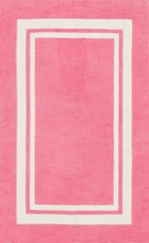 Bubblegum Pink Border Piper Rug