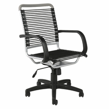 Bungie High Back Office Chair in Black and Aluminum