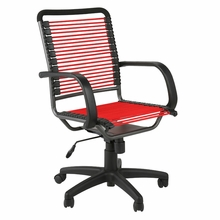 Bungie High Back Office Chair in Red and Graphite Black