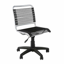 Bungie Low Back Office Chair in Black and Aluminum