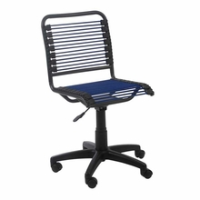 Bungie Low Back Office Chair in Blue and Graphite Black