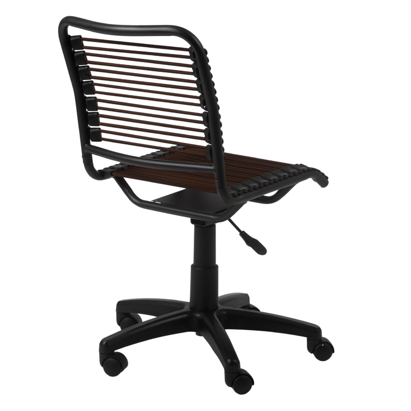 District17 Bungie Low Back Office Chair In Brown And Graphite Black Chairs