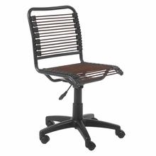 Bungie Low Back Office Chair in Brown and Graphite Black