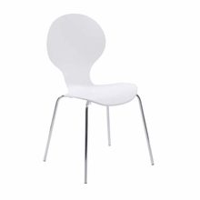 Bunny Side Chair in White and Chrome - Set of 4