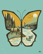 Butterfly Mountain Canvas Wall Art