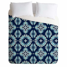 Butterfly Ornamental Blue Lightweight Duvet Cover