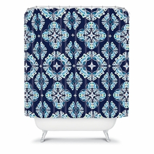 Butterfly Ornamental Blue Shower Curtain