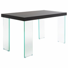 Cabrio Desk in Clear and Wenge
