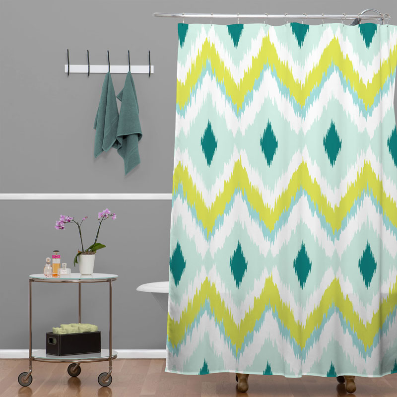 Caicos Zig Zag Shower Curtain