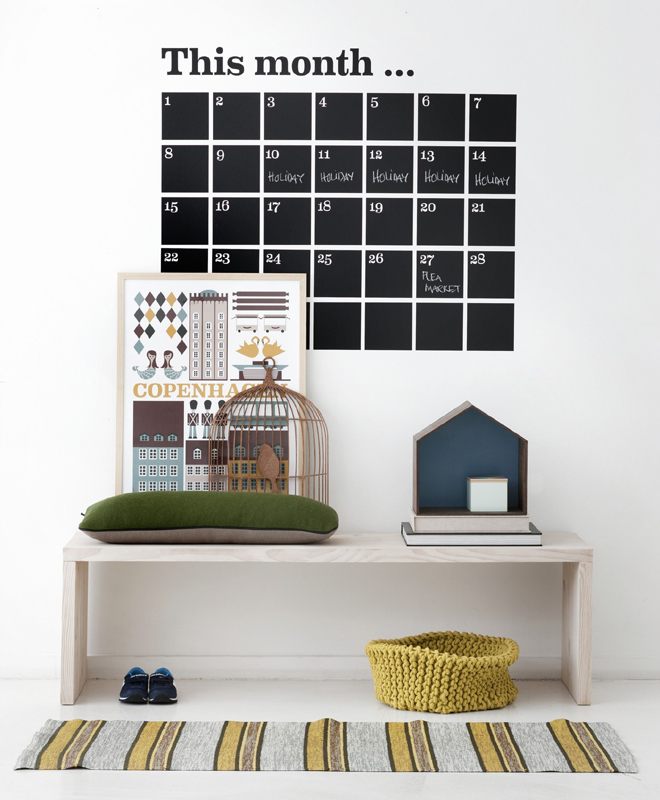 district17 calendar chalkboard wall sticker wall decals chalkboard calendar planner wall sticker by the binary box
