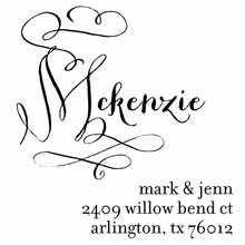 Calligraphy Name Personalized Self-Inking Stamp