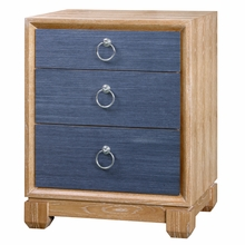 Calvin 3-Drawer Side Table - Navy