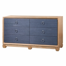 Calvin 6-Drawer Dresser - Navy