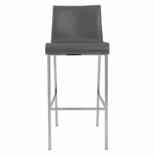 Cam Bar Stool in Gray and Chrome - Set of 2