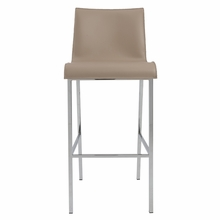 Cam Bar Stool in Tan and Chrome - Set of 2