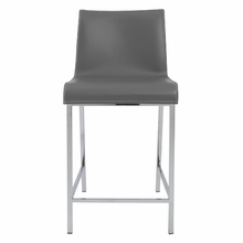 Cam Counter Stool in Gray and Chrome - Set of 2