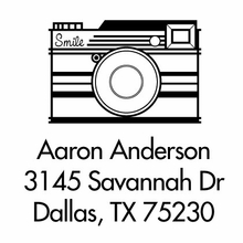 Camera Personalized Self-Inking Stamp