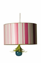 Candy Stripe Drum Pendant