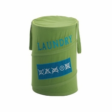 Care Instructions Laundry Hamper in Green
