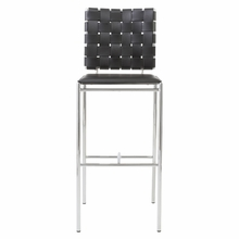 Carina Bar Chair in Black and Chrome - Set of 2