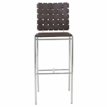 Carina Bar Chair in Brown and Chrome - Set of 2