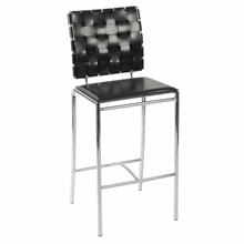 Carina Counter Chair in Black and Chrome - Set of 2