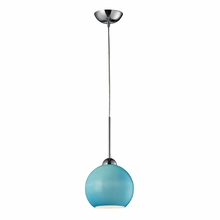 Cassandra Blue Pendant In Polished Chrome