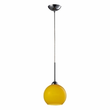 Cassandra Yellow Pendant In Polished Chrome