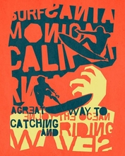 Catching A Wave Poster Wall Decal
