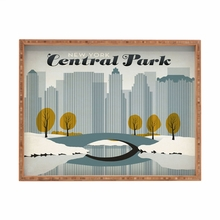 Central Park Snow Rectangular Tray